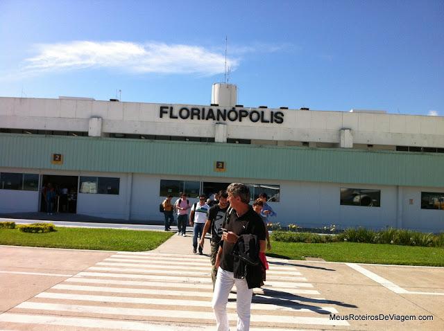 Embarcando no Aeroporto Internacional Hercílio Luz