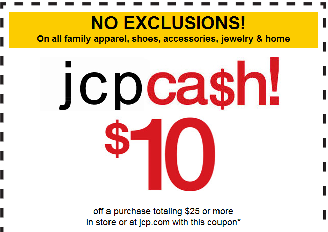 $10 Off JCPenney Coupon Printable