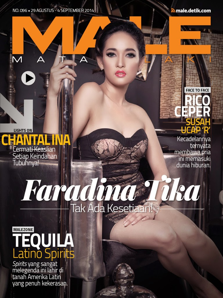 Foto Faradina Tika di Cover Majalah Male 29 Agustus – 05 September 2014