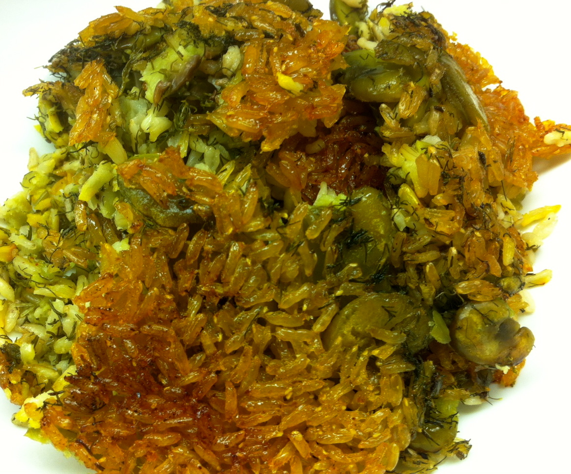 baghali polow: delicious basmati {brown} rice with fava beans and dill ...