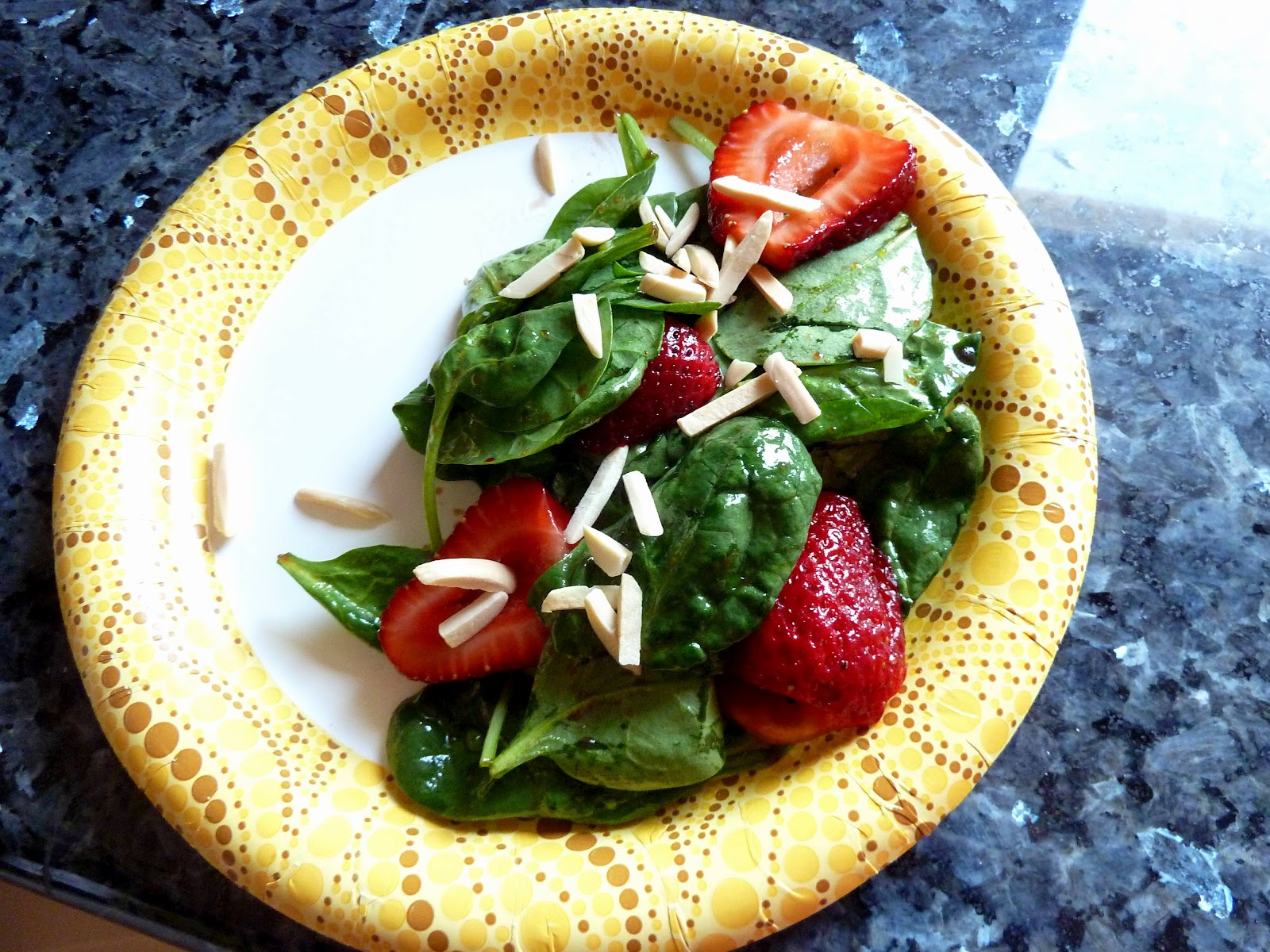 Dinner with Denise: Spinach and Strawberry Salad with Pears Poached in ...
