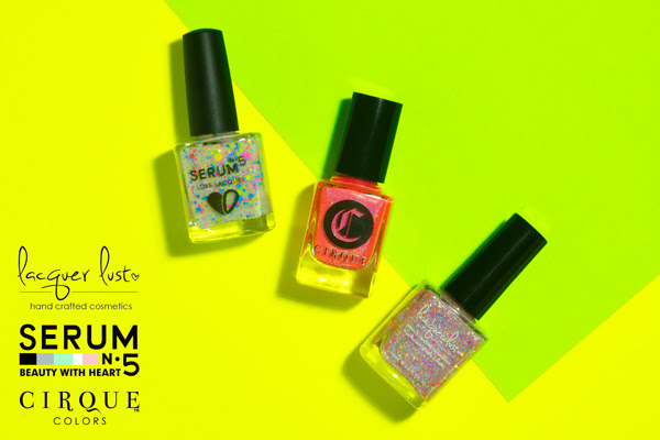 Cirque Colors, Lacquer Lust and Serum No. 5 Summer Fest 2015 Collaboration Trio