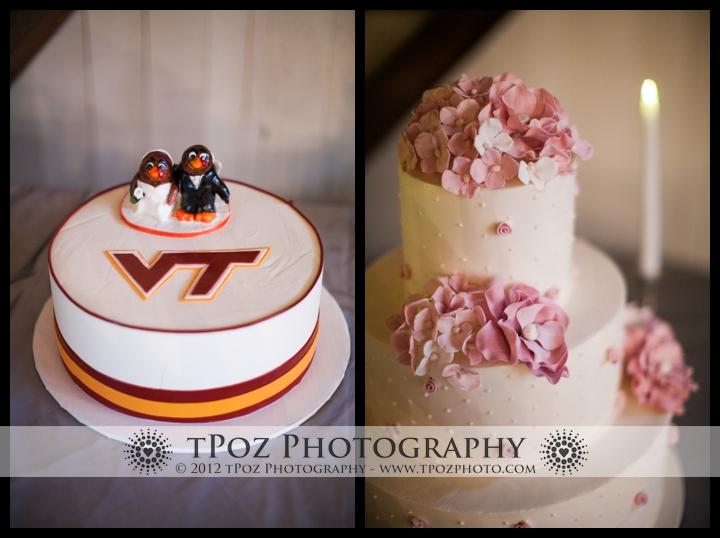 Virginia Tech Wedding Cake
