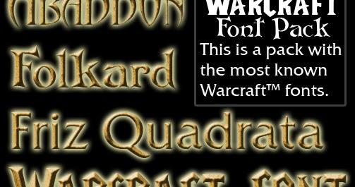 Warcraft 3 Font Pack Lancraft