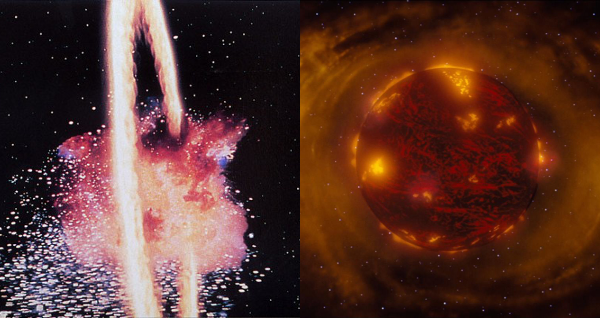 explosion of death star and formation of genesis planet
