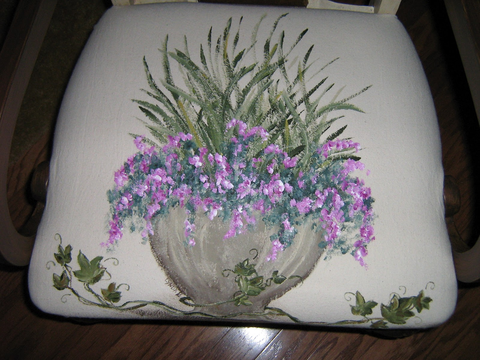 HAND PAINTED CHAIR SEAT COVERS TUTORIAL PAINTING ON CANVAS CLOTH