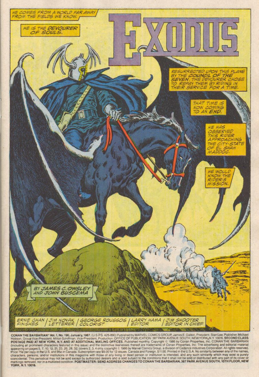 Conan the Barbarian (1970) Issue #190 #202 - English 2