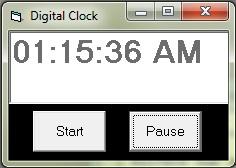 Digital Clock using Timer control in vb6