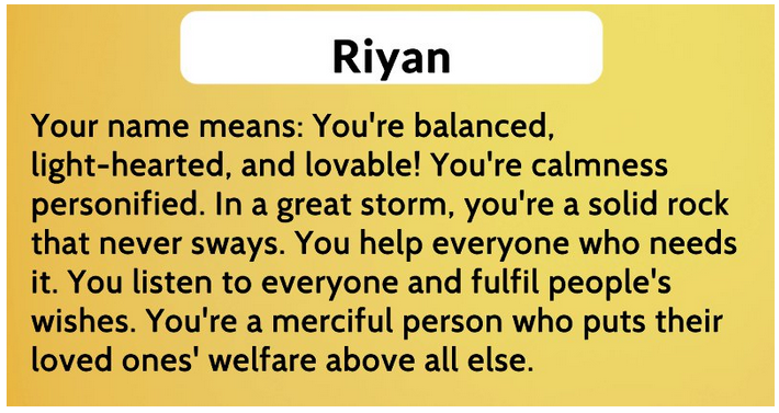 Arti nama riyan
