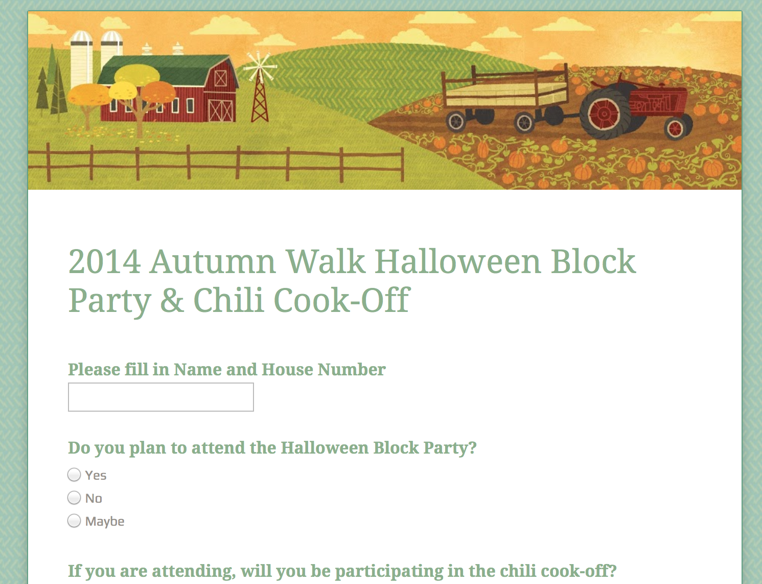 Halloween Chili Cook-Off RSVP