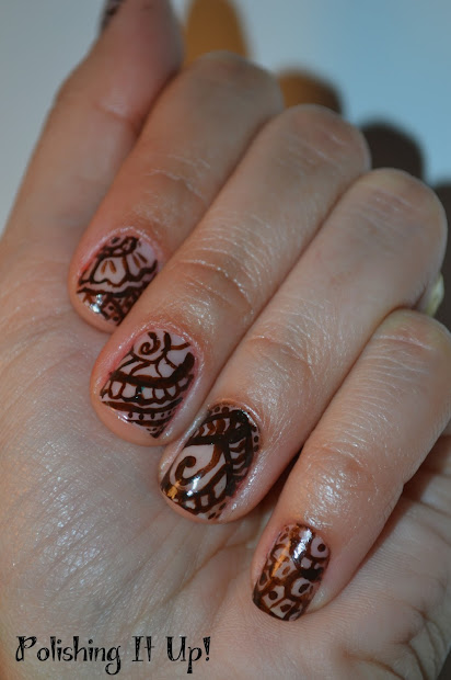 polishing henna design