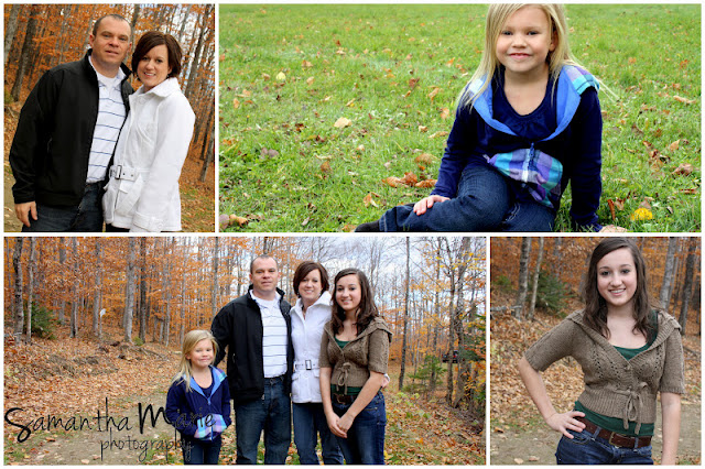 family of four in the fall