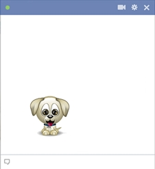 Cute Little Puppy Facebook Emoticon