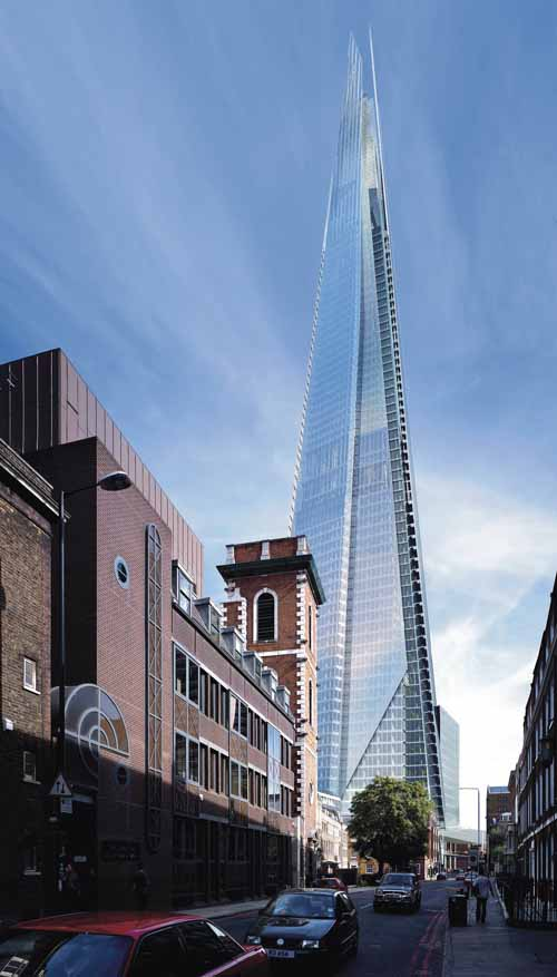 The shard london bridge tower uk by for Architecte tower bridge