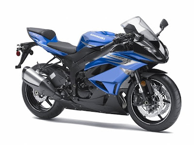 2011 Kawasaki Ninja ZX-6R Blue Color