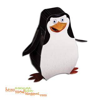 бумажная поделка пингвин