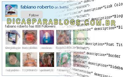 Código da Caixa de Seguidores do Twitter
