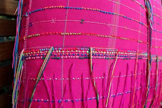 Ethnic Karen large pink floor pillow