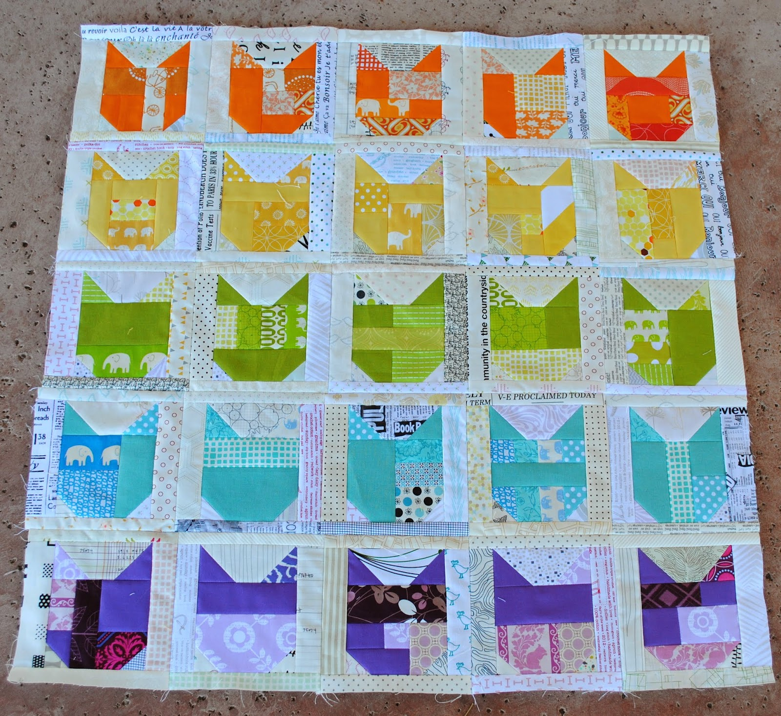 low volume catvent quilt along