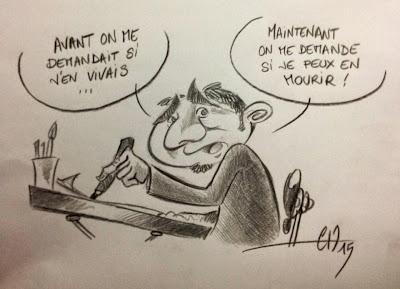 Nouveau problème du métier caricaturiste - attentat Charlie ©Guillaume Néel