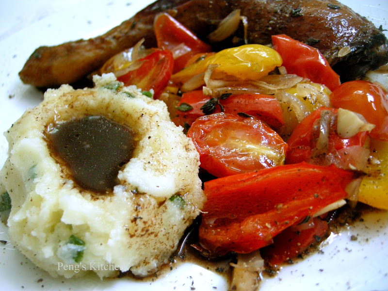 Peng's Kitchen: Balsamic Chicken with Roasted Vegetables