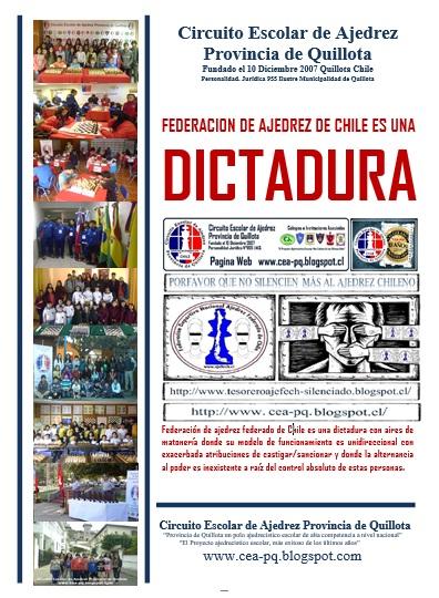 FEDERACION AJEDREZ CHILE ES UNA DICTADURA