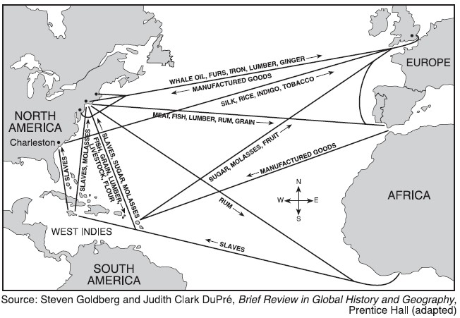slavery and triangular trade route This map, from britain's national archives, depicts the triangle trade between the uk, africa and the americas curators at the archives provide this description: this map shows the main.