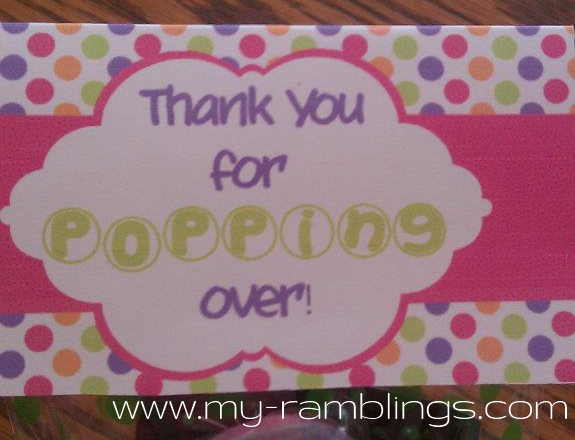 My Ramblings: About to Pop Baby Shower Part 4: Decorations and Favors