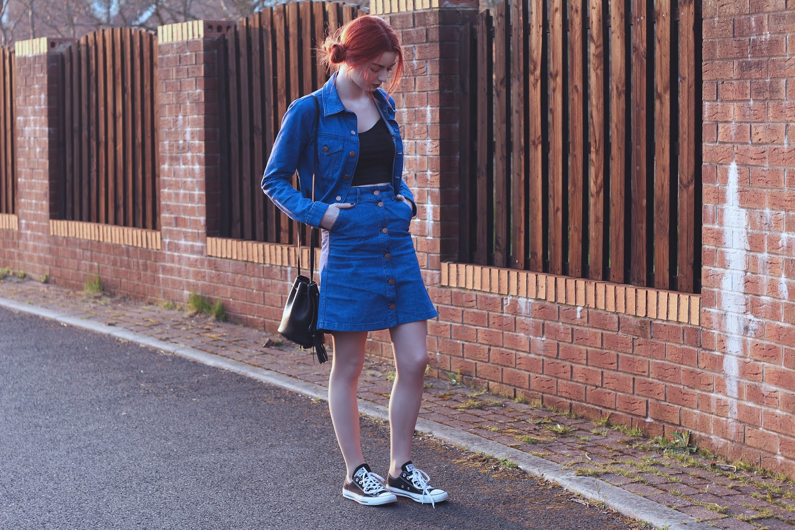 fashion blog double denim