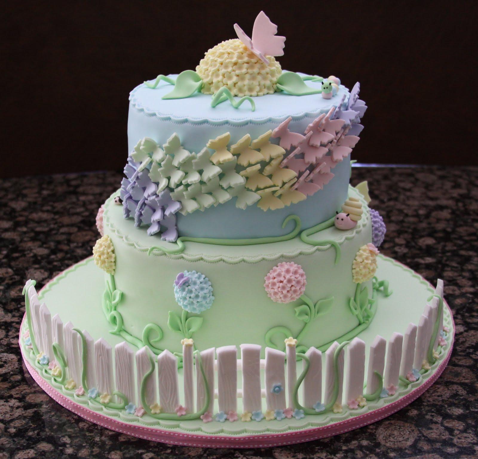 .: Butterfly Garden Cake