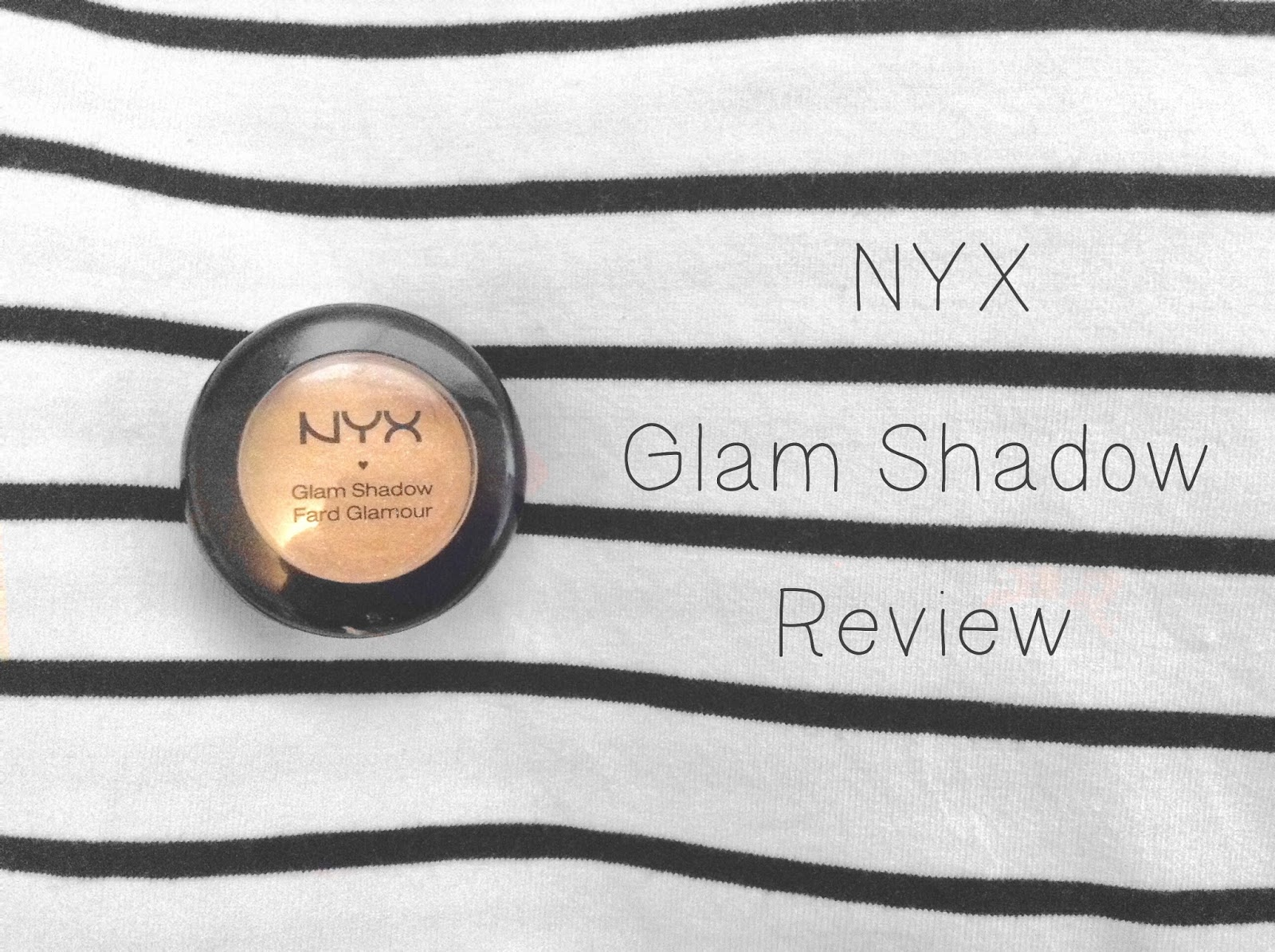 NYX Glam Shadow in Pixie Dust Review