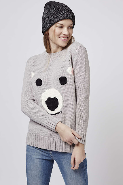 polar bear jumper, topshop polar bear jumper,