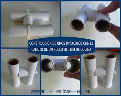 binoculos DIY sostenible canuto film cocina