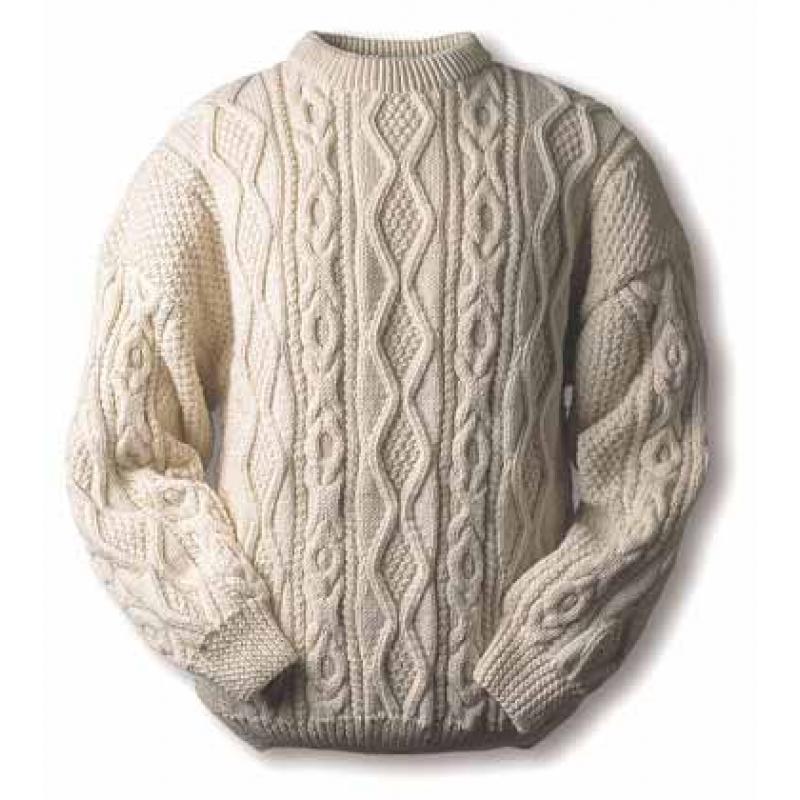 Вязание мужского свитера с аранами спицами 359