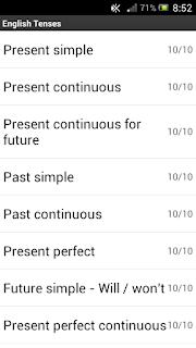 Aplikasi English Tenses