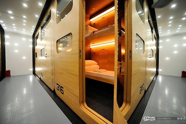Russia's first capsule hotel Sleepbox Hotel Tverskaya