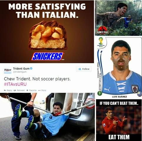 Luis Suarez bite controversy tie-ins and memes