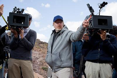 Ridley Scott en plena faena.