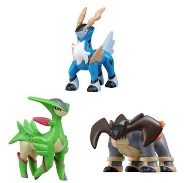 Pokemon Figure TomyMC Cobalion Terrakion Virizion