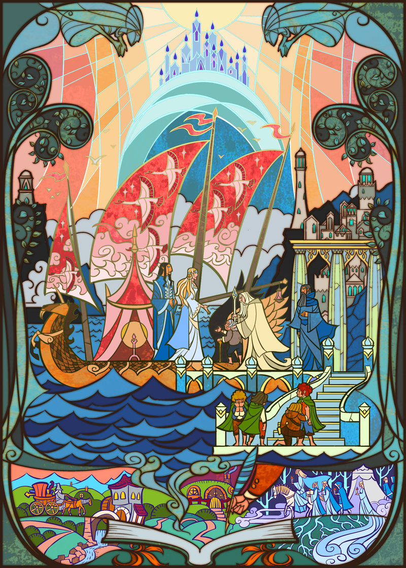 The Geeky Nerfherder Cool Art 39 Grey Havens 39 By Jian Guo