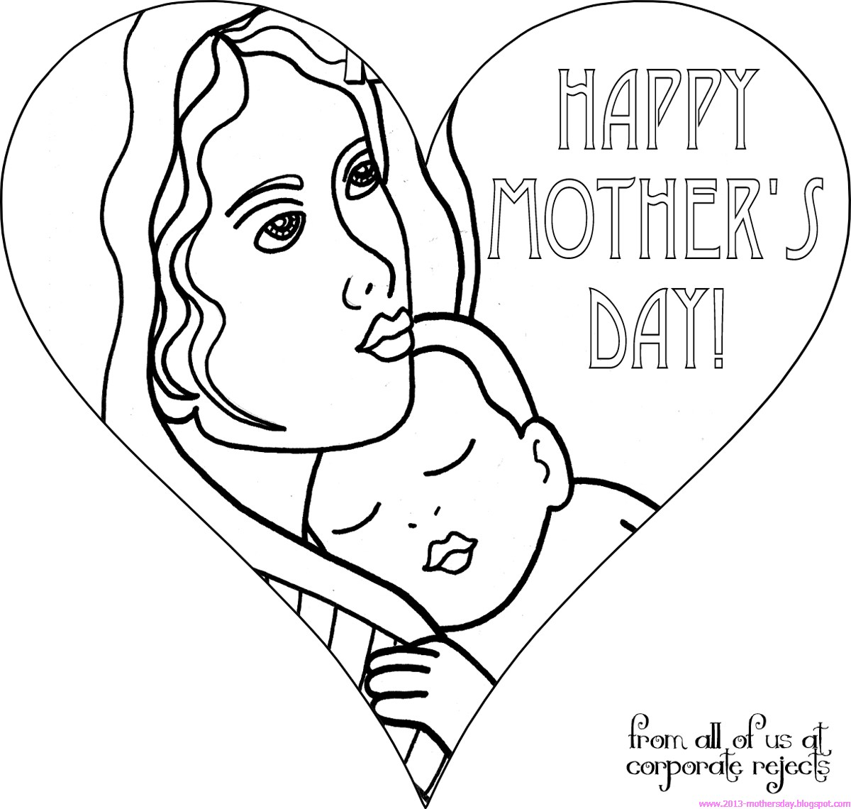 coloring pages mom and kids - photo#33