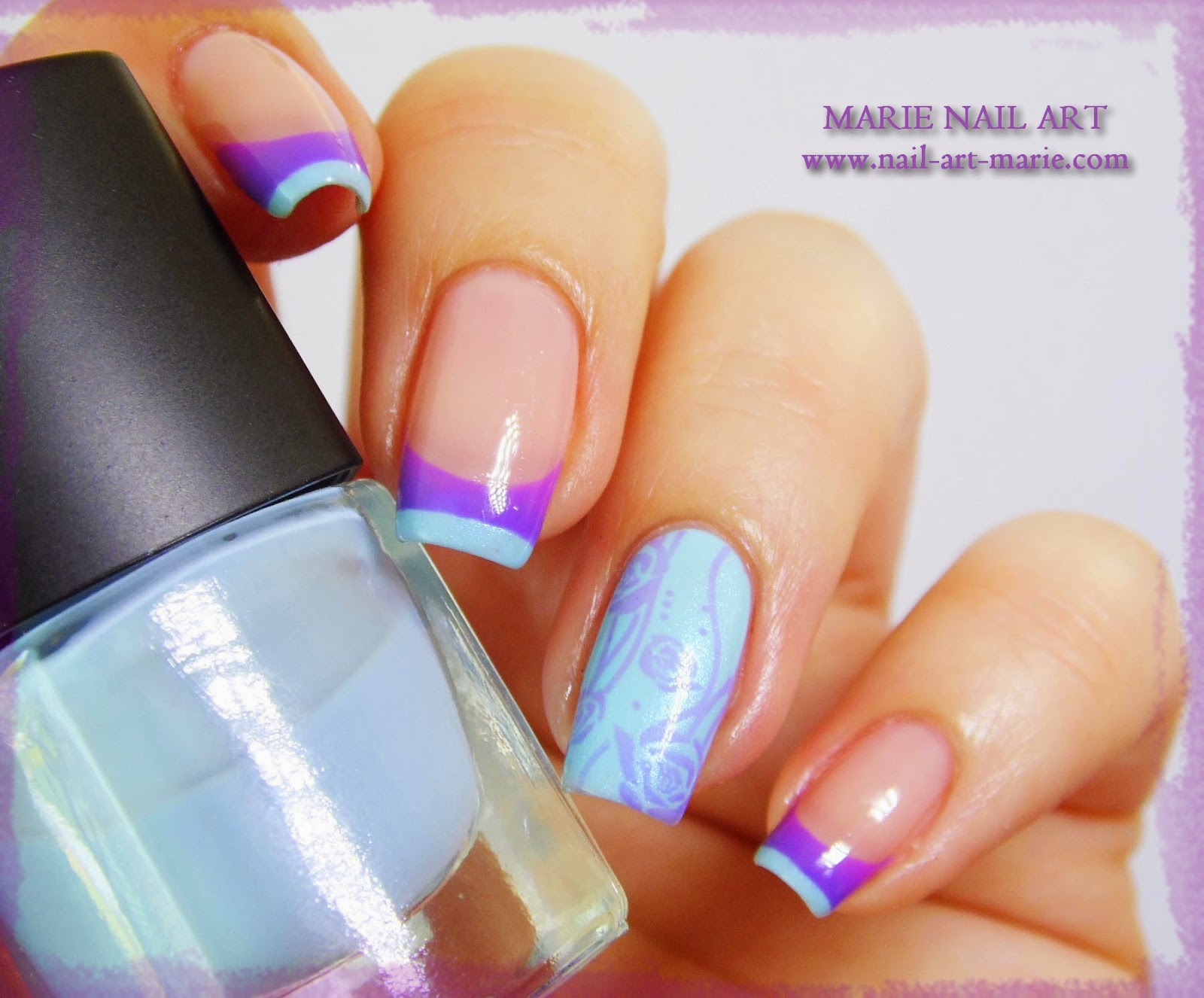 Nail Art Double French Thermique11