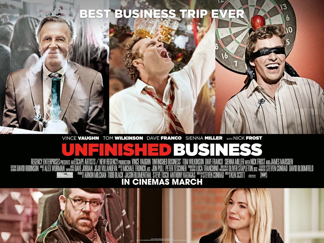 Unfinished Business quad poster. ™ and © 2015 Twentieth Century Fox Film Corporation. All rights reserved.