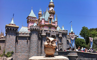 Owl Sleeping Beauty Castle Disneyland statue