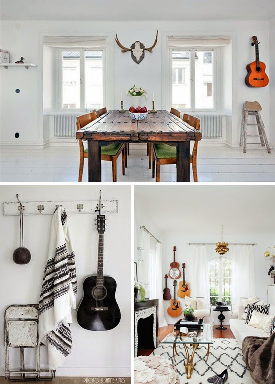 Guitar wall inspiration