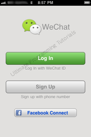 iPhone 3G - App Menu - WeChat