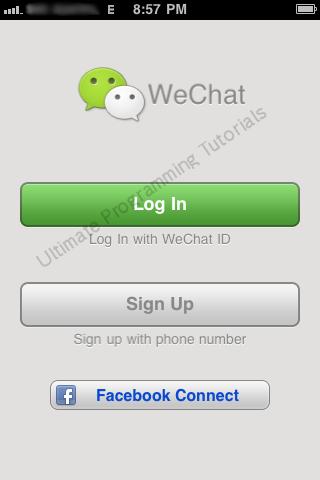 iPhone 3G - App Menu - WeChat