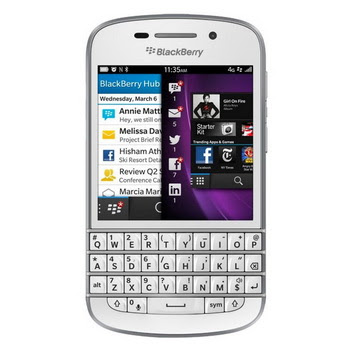 Blackberry Q10 White Smartphone