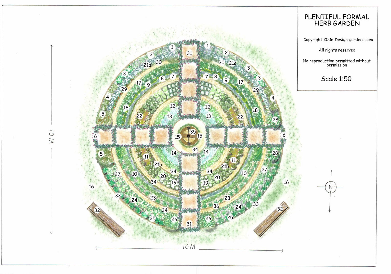 Herb garden design mouade agafay for Planning my garden layout