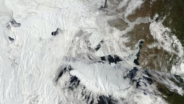 Morze Karskie - topniejący lód